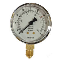 Manométer Ar/CO2 30l/min 63mm