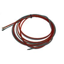 Bovden bevonatos 5m 1.0-1.2 mm piros